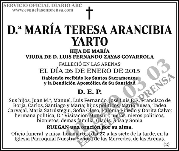 María Teresa Arancibia Yarto